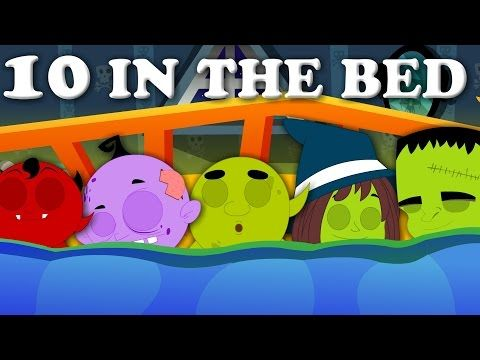 Ten In The Bed | Scary Rhyme For Kids And baby Songs For Childrens - YouTube