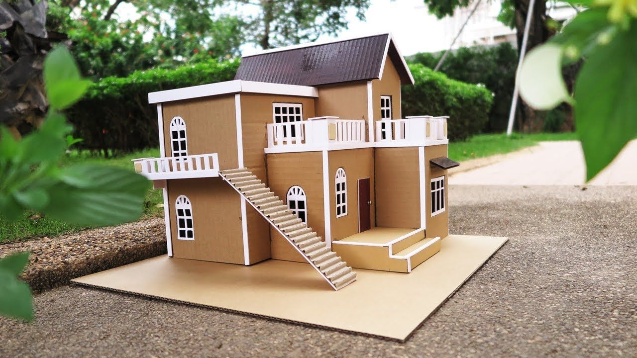 Building cardboard villa house diy at home dream house