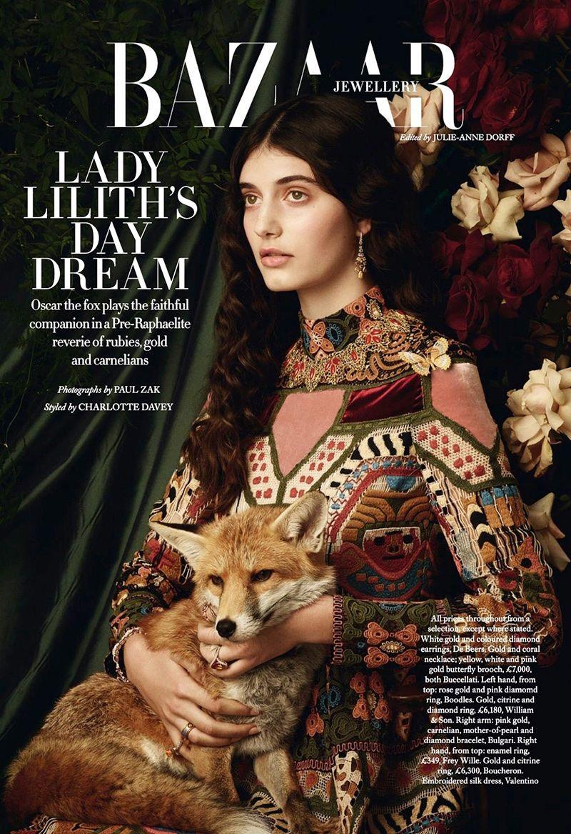 Photo of Emily Reda Stuns in Pre-Raphaelite Styles for Harper's Bazaar UK