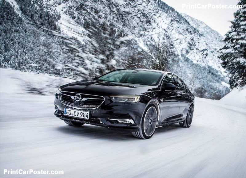 Opel Insignia Grand Sport 2017 Poster Opel Vectra Sports Car