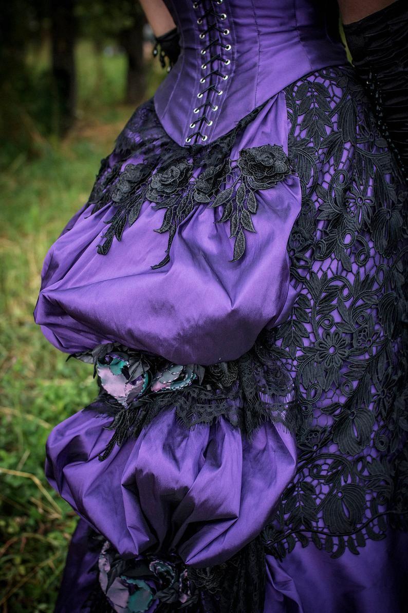 Lila Viktorianischen Kleid Viktorianischen Ballsaal Kleid Etsy Viktorianische Kleider Viktorianisches Kostum Lila Hochzeitskleid [ 1191 x 794 Pixel ]