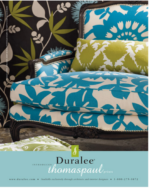 This chair in Duralee fabric is beautiful!