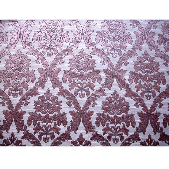 Lilac Damask Curtain Upholstery Fabric by FabricMart on Etsy ...