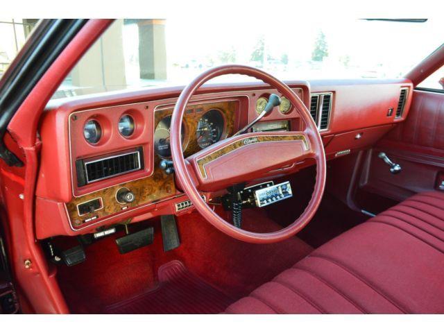 1975 Chevrolet Monte Carlo interior