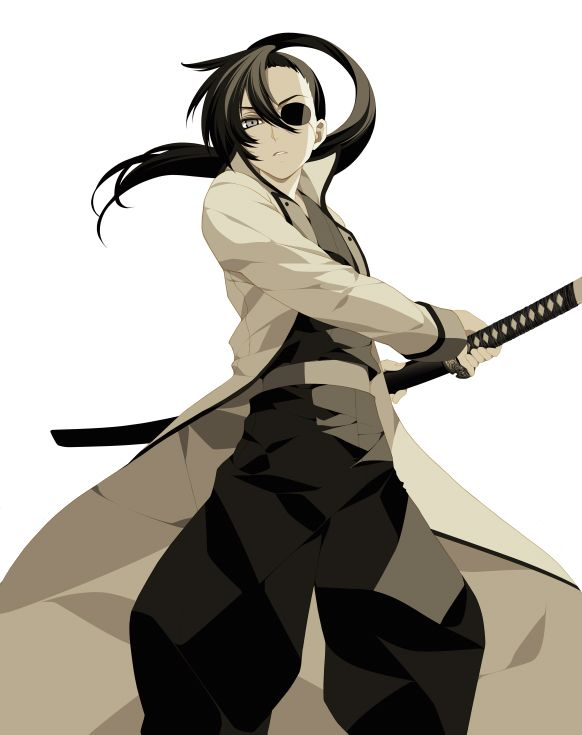 Anime Female Sword Eyepatch Anime Character Design Anime Female Anime