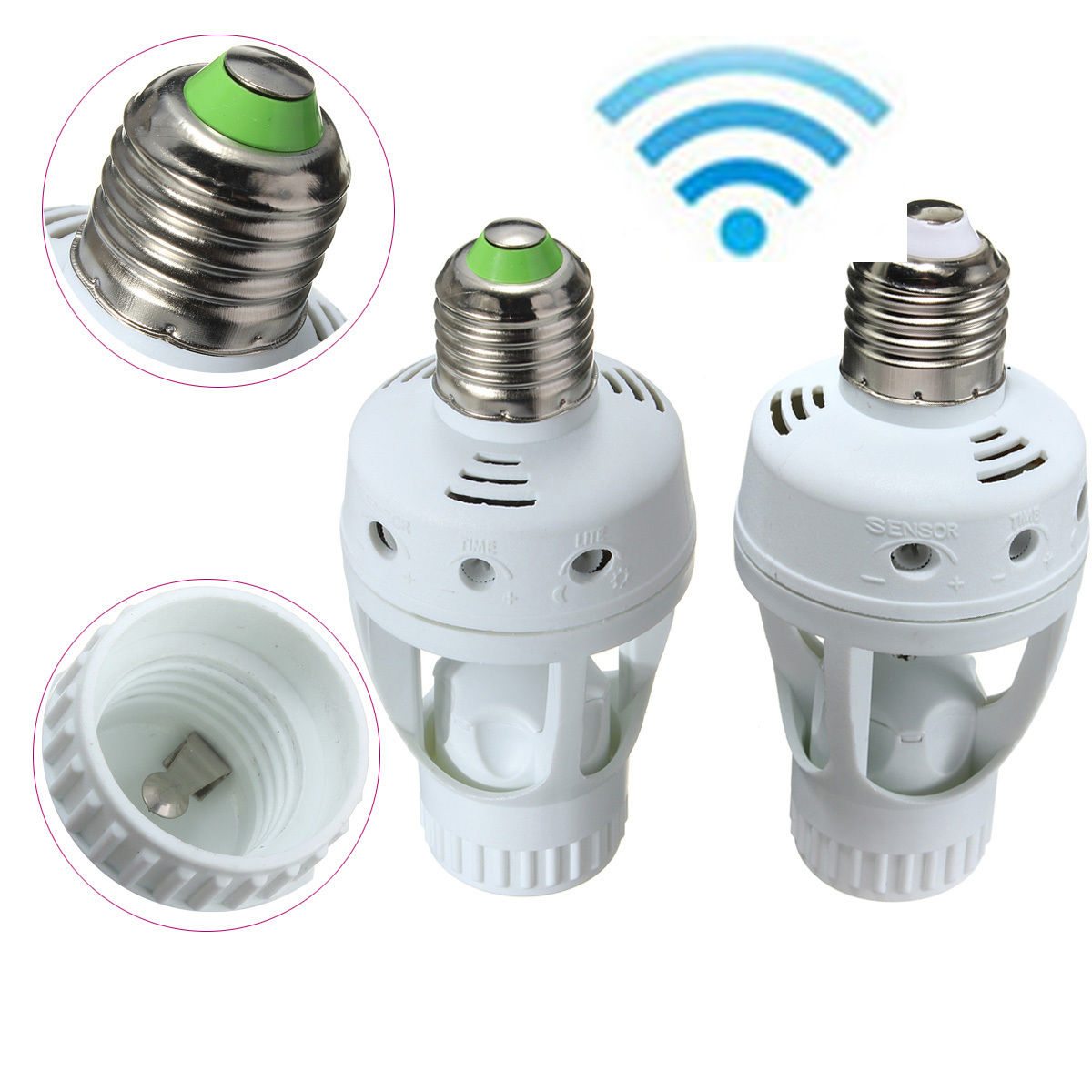 E27 Led Light Lamp Bulb Holder Socket Switch Infrared Pir Motion Sensor 110 220v Ebay Home Garden Light Sensor Lamp Bulb E27 Led