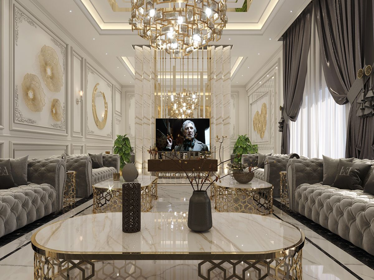 Luxurious Majles On Behance Living Room Design Decor Luxury Living Room Luxury Living Room Design