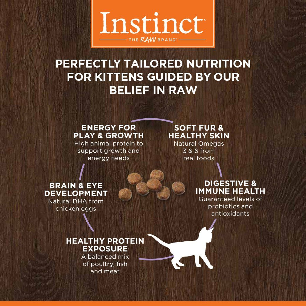 Instinct Original Kitten Grain Free Recipe With Real Chicken Natural Dry Cat Food By Natures Variety 4 5 Lb Bag Read Mo With Images Dry Cat Food Cat Food Animal Protein