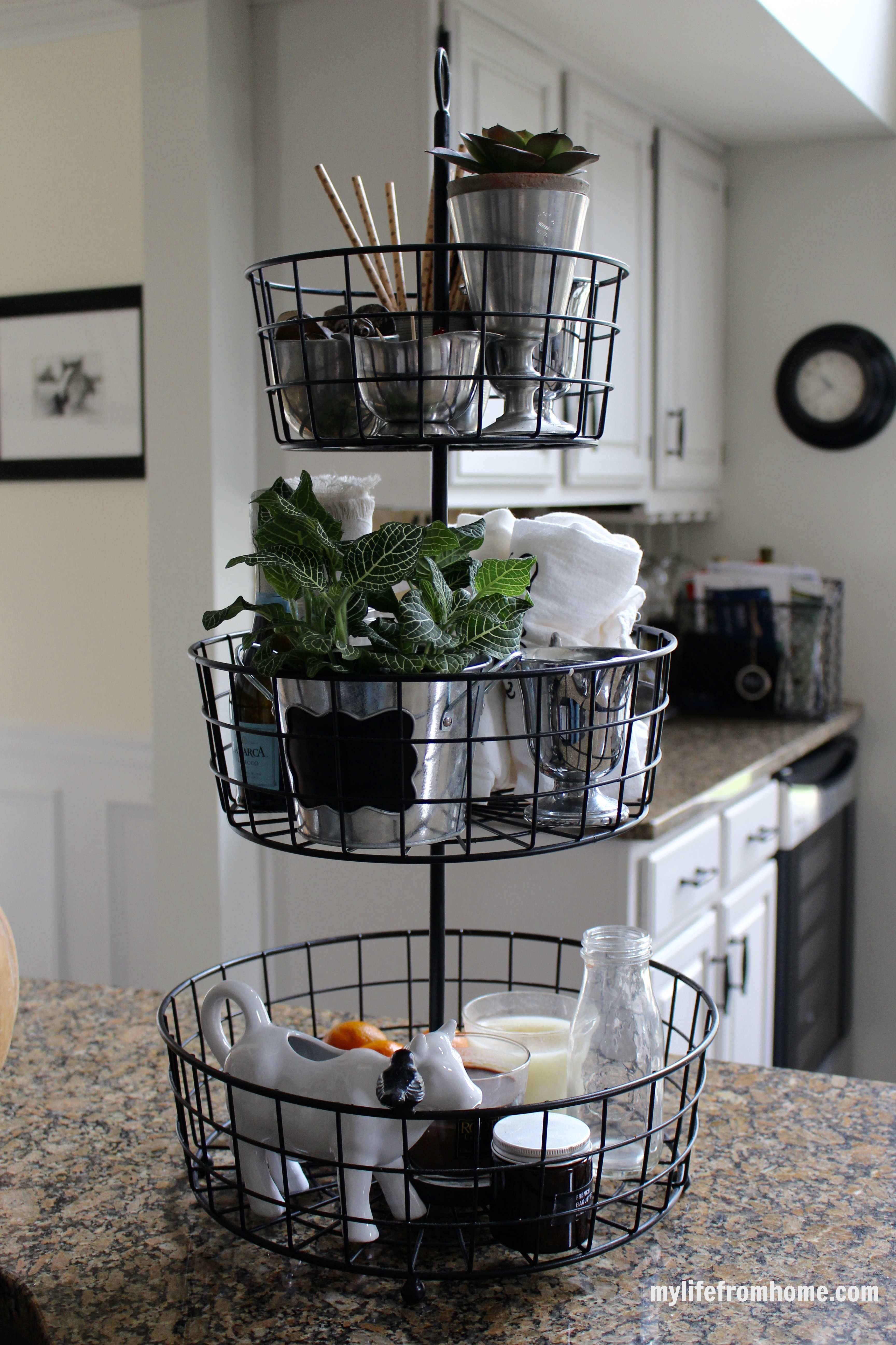 Kitchen Storage Ideas | 3-Tier Wire Rack | My Life From Home | www ...