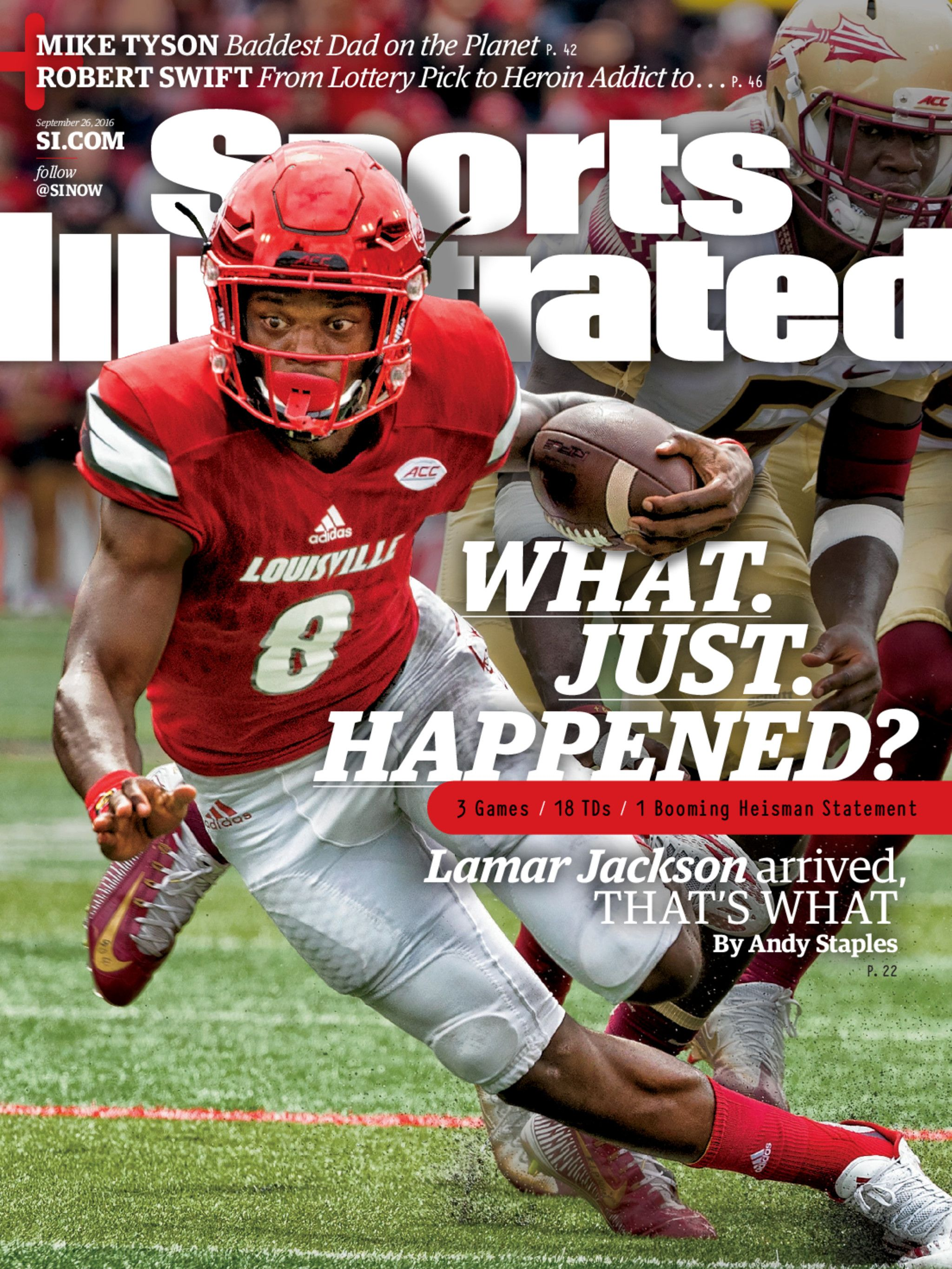 September 26 2016 Issue Viewer Lamar Jackson Sports Magazine Sports Illustrated Covers