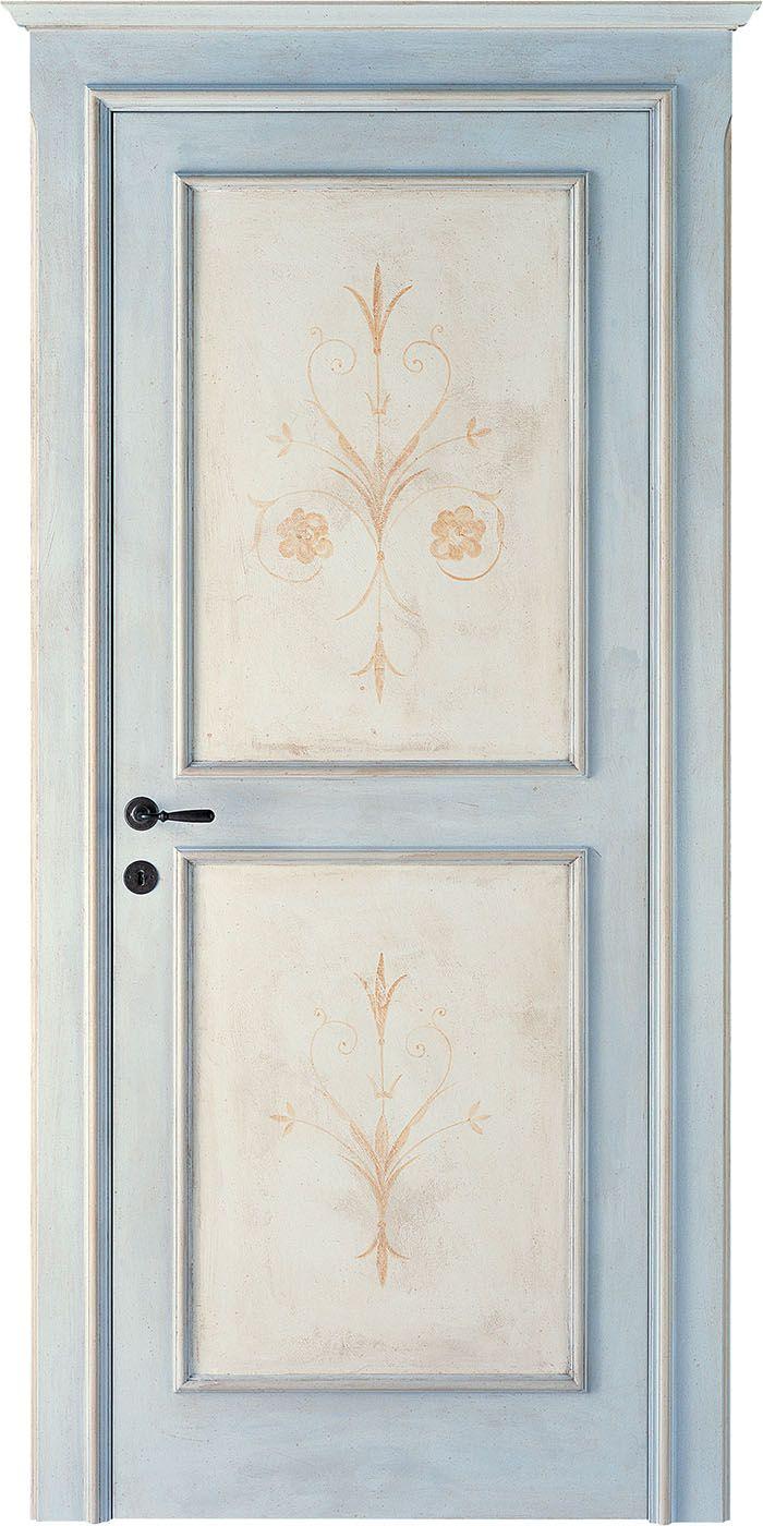Porte Interne Shabby Chic fior di melo | porte dipinte, porte decorate, armadi dipinti