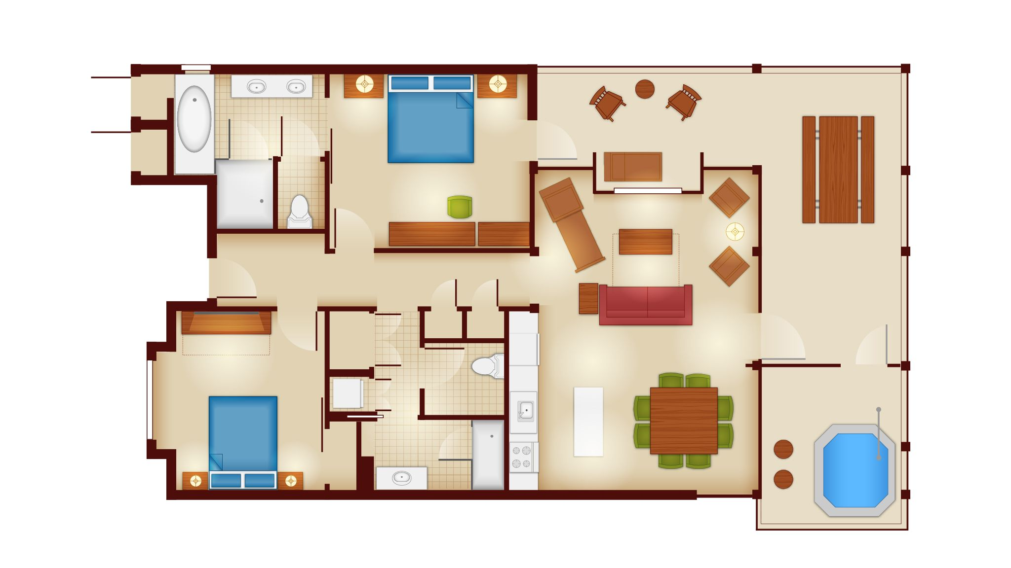 Copper Creek Villas And Cabins At Disney S Wilderness Lodge Rooms And Floor Plans Photo 4 Of 12 Copper Creek Cabin Floor Plans Cabin Floor
