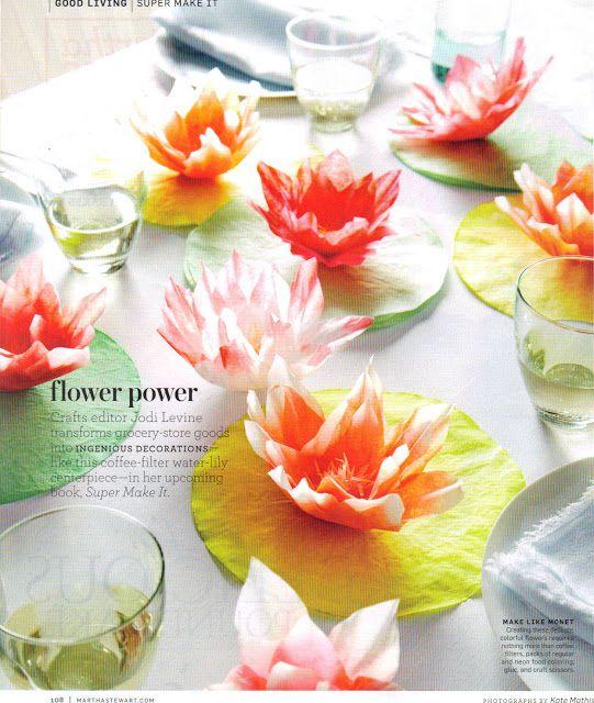 Digital Nicole Scrapbooking: Coffee Filter Water Lily