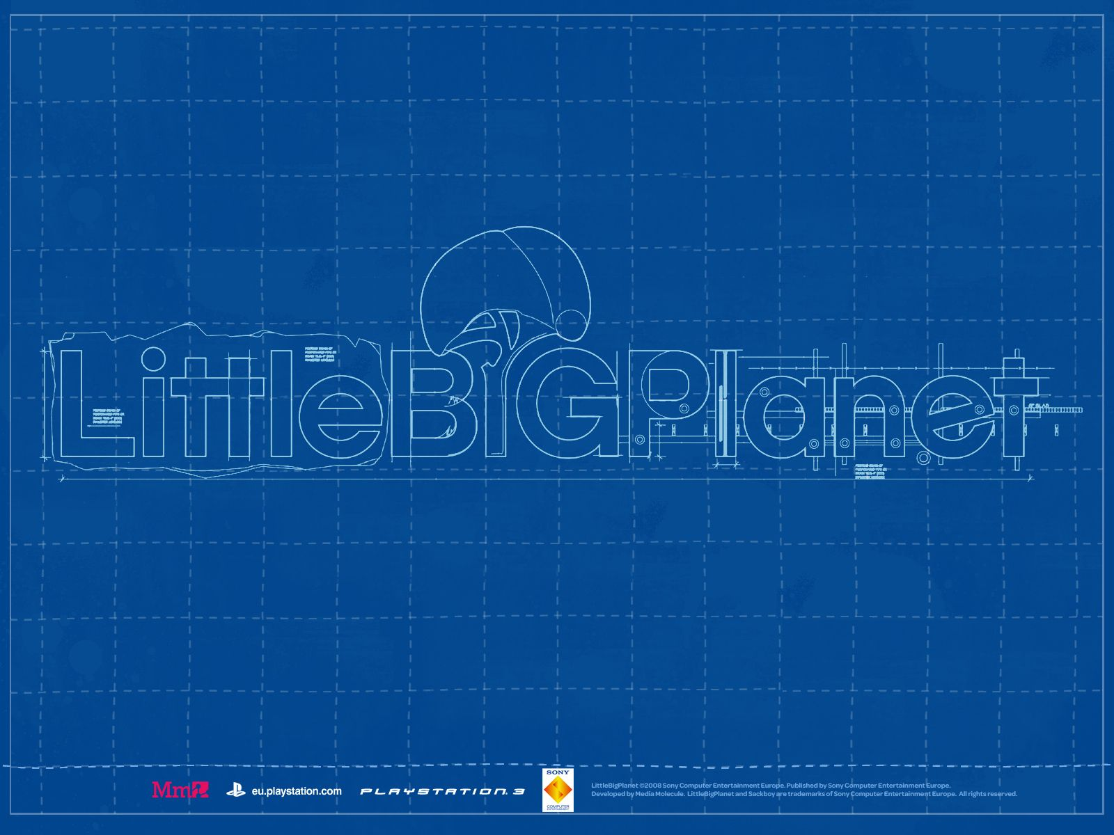 gaming wallpaper blueprint style