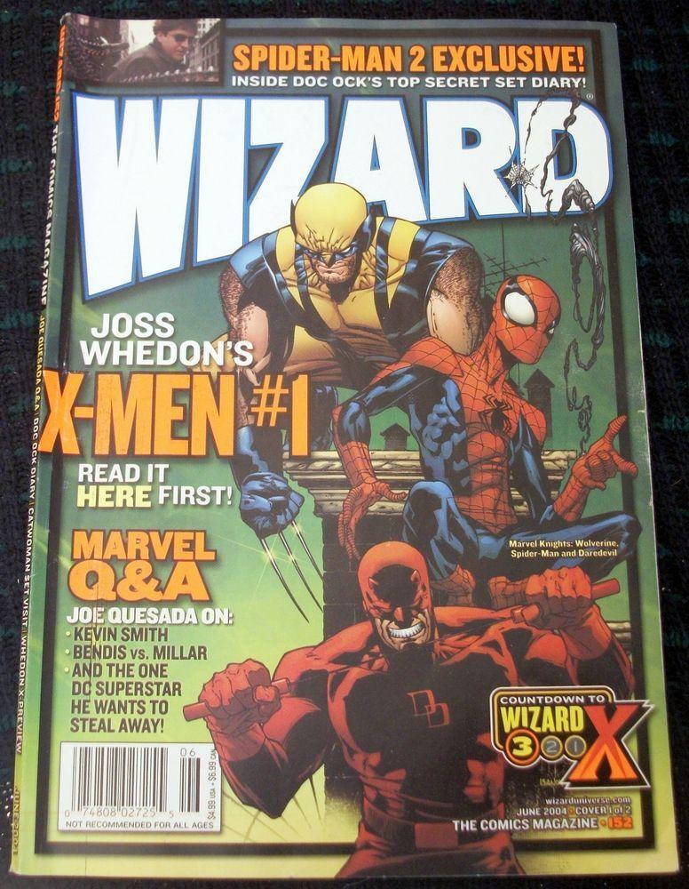 Wizard comics magazine 152 joe quesada wolverinespider man wizard comics magazine 152 joe quesada wolverinespider mandaredevil cover fandeluxe Gallery