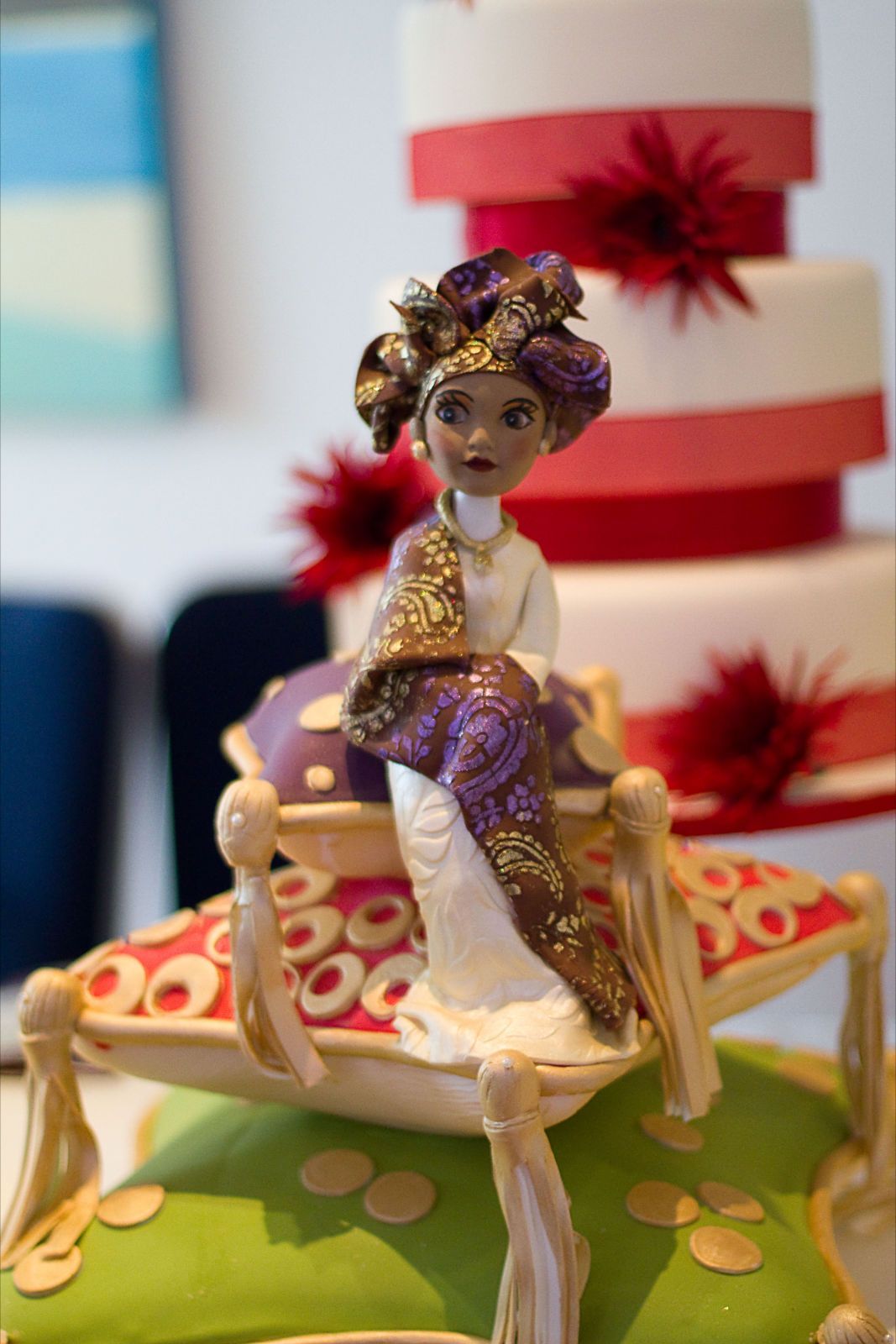 A Nigerian Inspired Cake Topper African Wedding