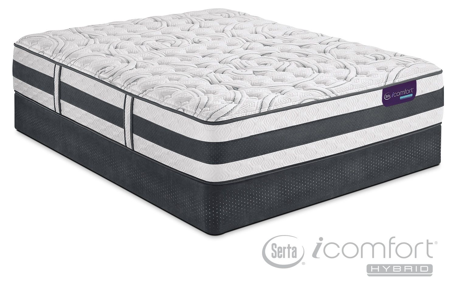 applause ii firm california king mattress and split foundation set