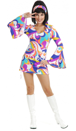 Robe Seventies De Betty Vetements Disco Vetement Annee 60 Costume Disco