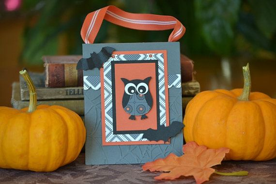Halloween Owl Gift Bag by PinkLeafBoutique on Etsy, $3.50