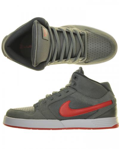 Nike Morgan Mid 3 Merc GreyUnv RedWhite Sneaker $140.00