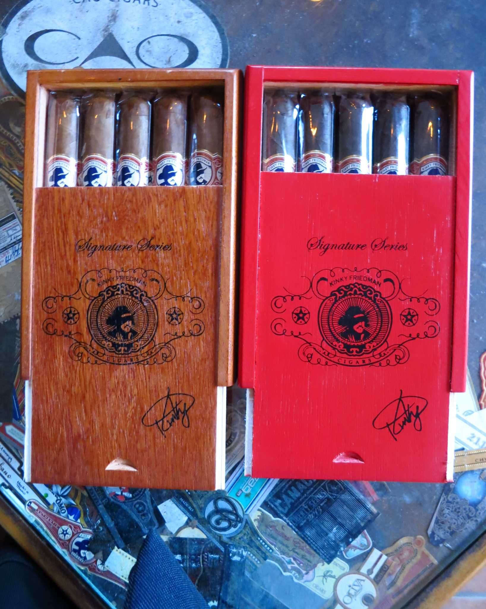 Galveston - where the gifts are. Cigar aficionados or those shopping for them will want to visit the Havana Alley Cigar Shop & Lounge on 21st Street. Specializing in boutique cigars, with hundreds of different blends and sizes, Havana Alley is also the sole authorized dealer of Kinky Friedman cigars, sold individually and in boxes of five or 20. Photo by Kathleen Scott for the Express-News.