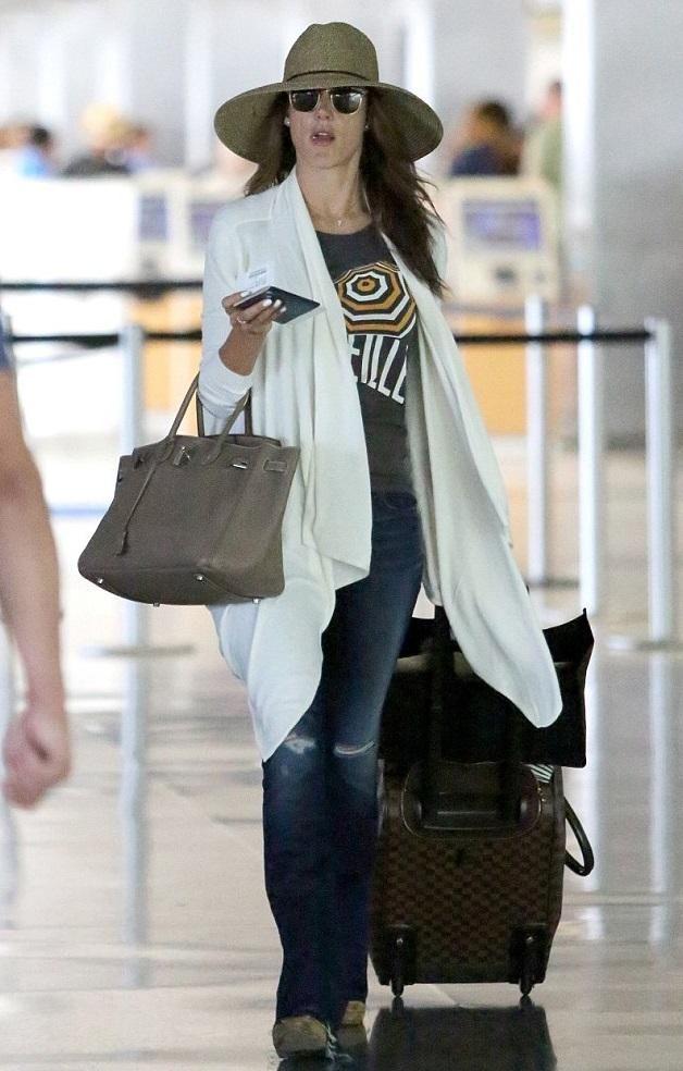 01f148e73537 ... ireland alessandra ambrosio wearing hermes birkin bag in 35cm etoupe  with palladium hardware louis vuitton eole