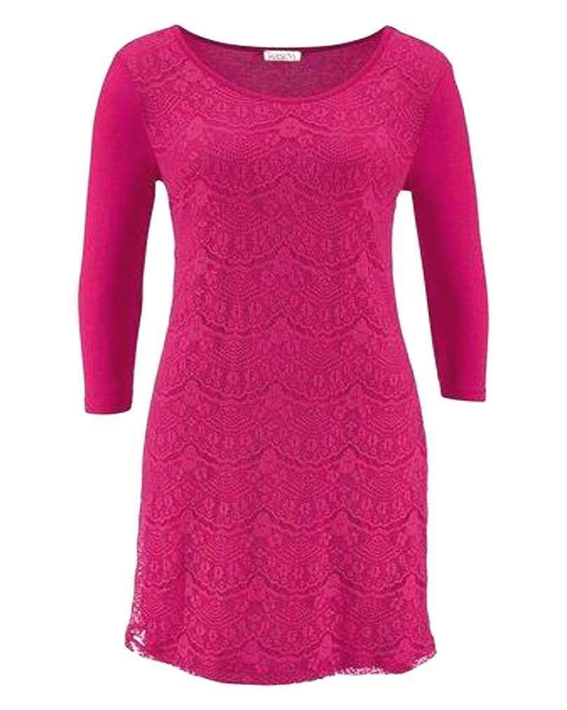 BOYSEN`S Damen Kleid Spitze pink GR. 10 10 10 10 10 10 10 10 10 10
