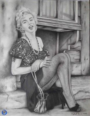 I miei disegni / My drawings: Marilyn Monroe 3 (2018)