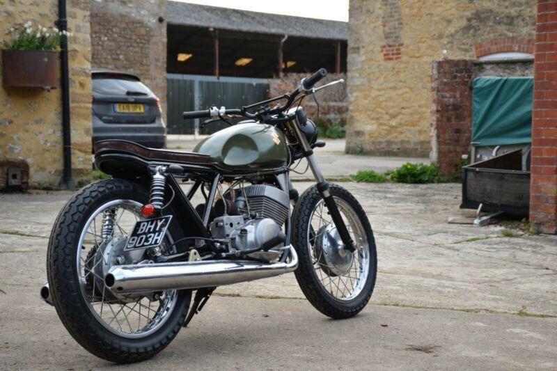 Suzuki T250 Cafe Racer Custom bike   Custom Motorcycles For Sale In