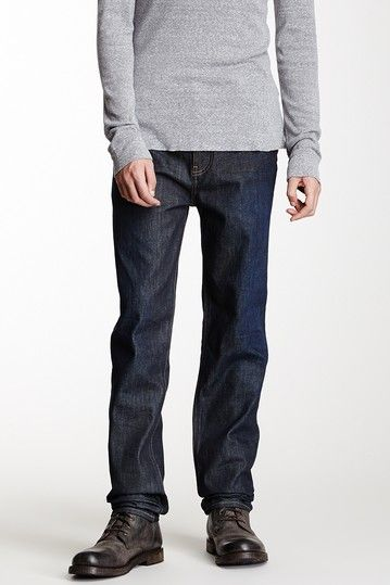 Embossed Whiskered Straight Leg Jean by BLK DNM on @HauteLook