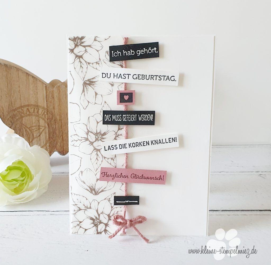 Schnelle Geburtstagskarten Geburtstagkarten Basteln Karte