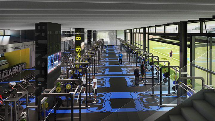 The Wasserman Football Center Locker Room Pinterest Sport - Weight room design