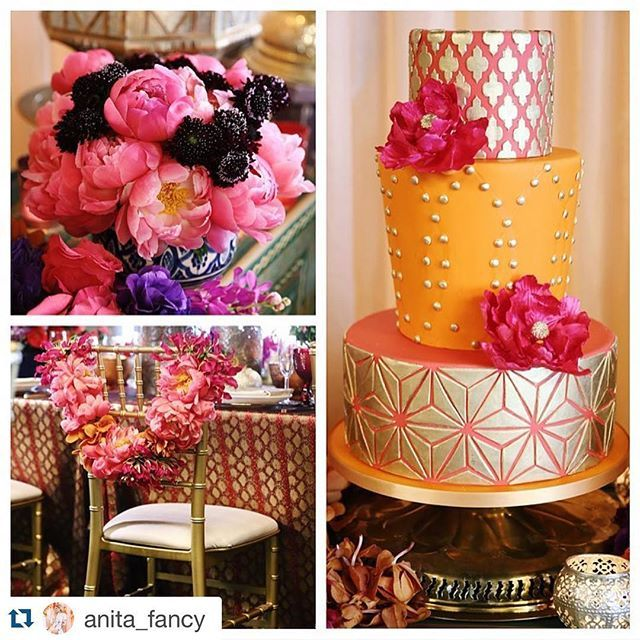 A vibrant Moroccan inspired bridal shower with no detail overlooked by the…