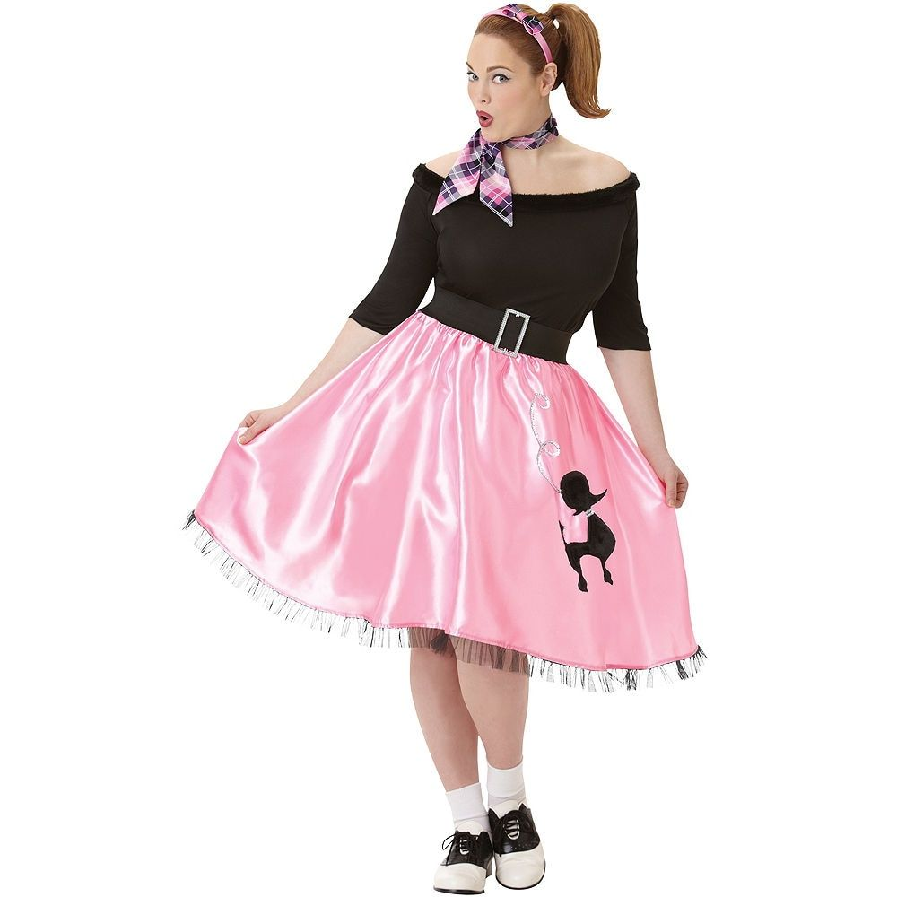 Adult Sock Hop Sweetie 50's Costume Plus Size Poodle