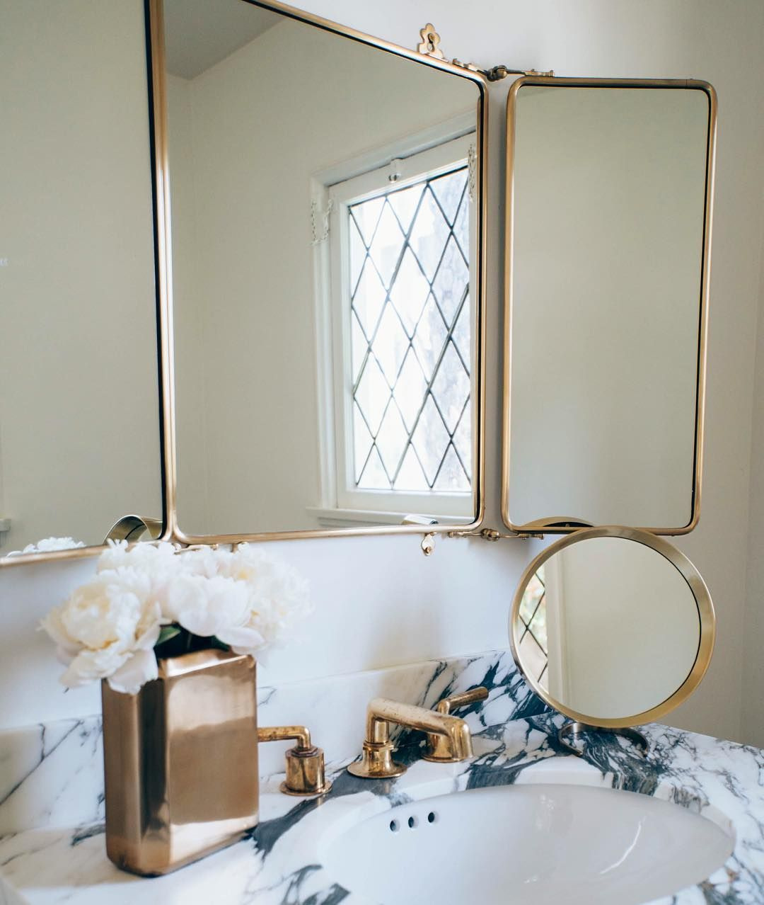 henry faucet & daphne trifold mirror | waterworks ...