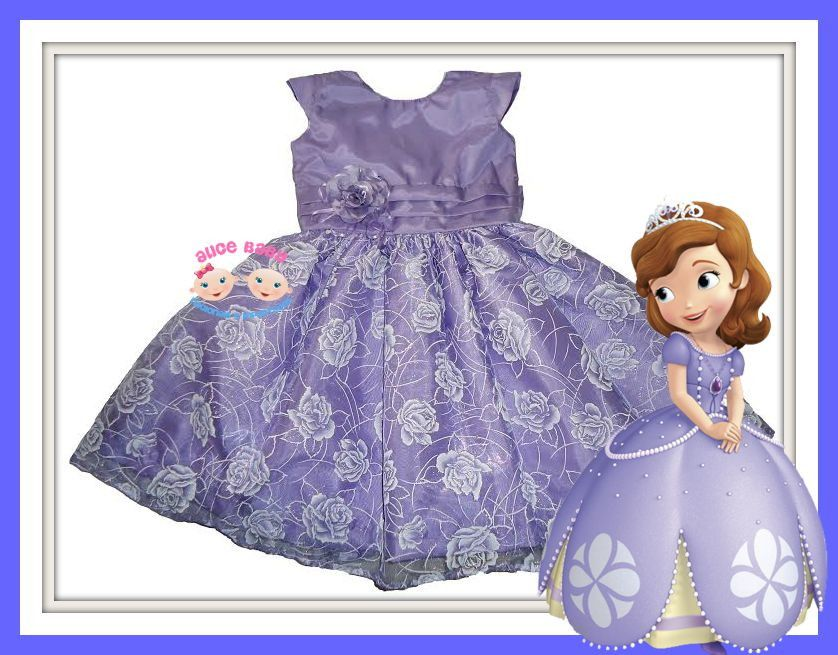 Vestido Festa Princesa Sofia Flower