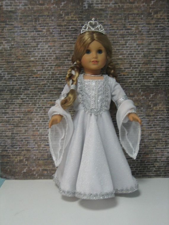 Fantasy Silver Gown and Cape for your American Girl doll