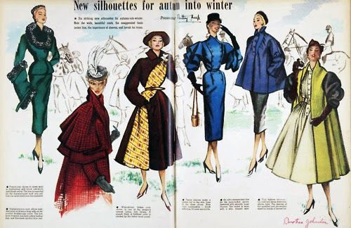 Bobbins and Bombshells: Fashionable History: Winter Fashion By Decade- 1950's