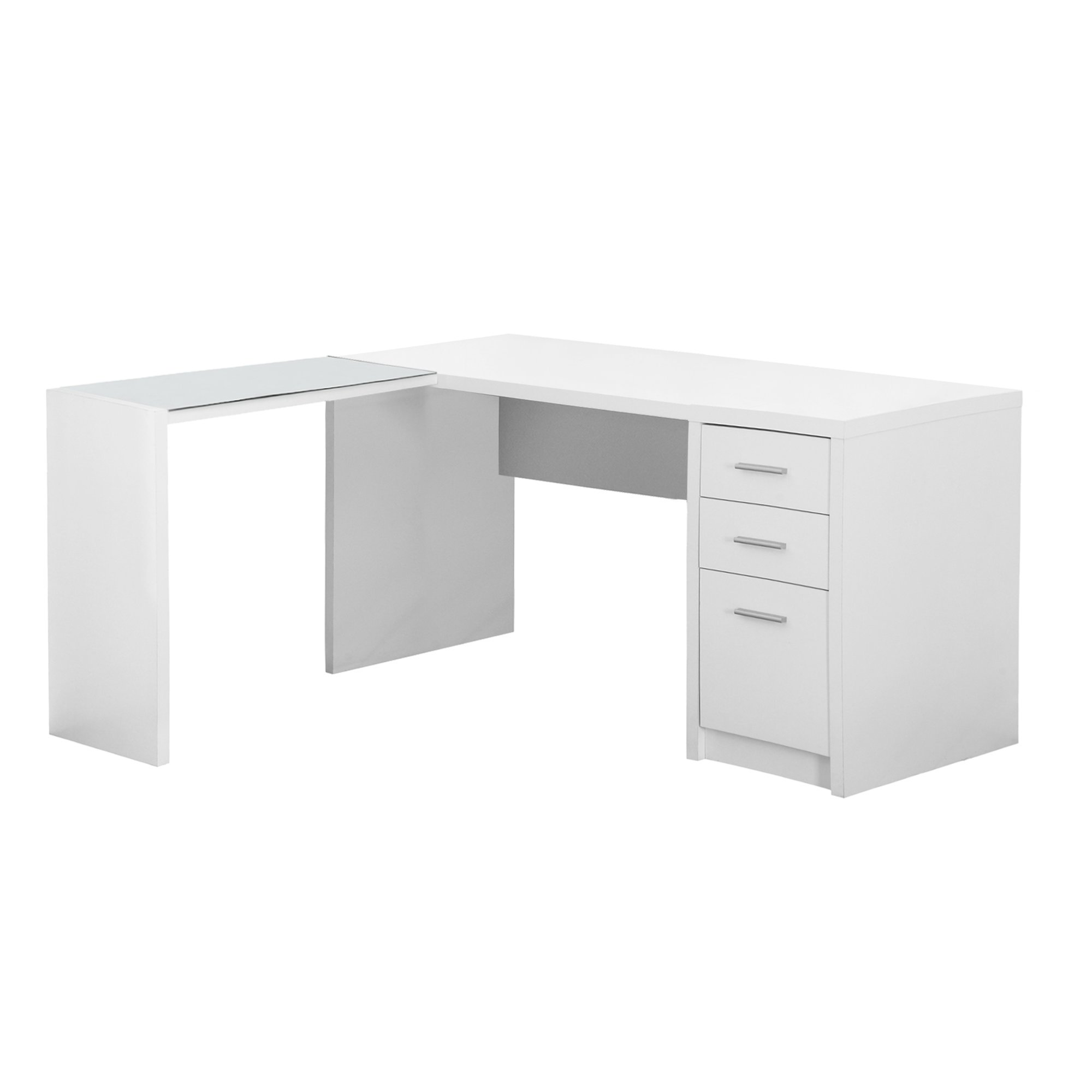 Modern 60 L Shaped White Office Desk White Computer Desk White