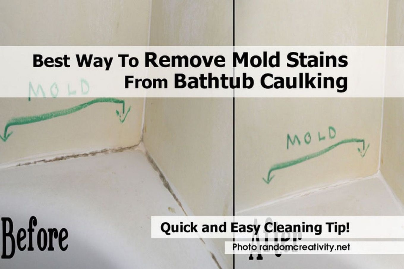 Bathtub Caulking Is A Common Place For Stains And Once They Set In It Can Be Very Difficult To Get Rid Of Them Mold Remover Bathtub Caulking Remove Mold Stains