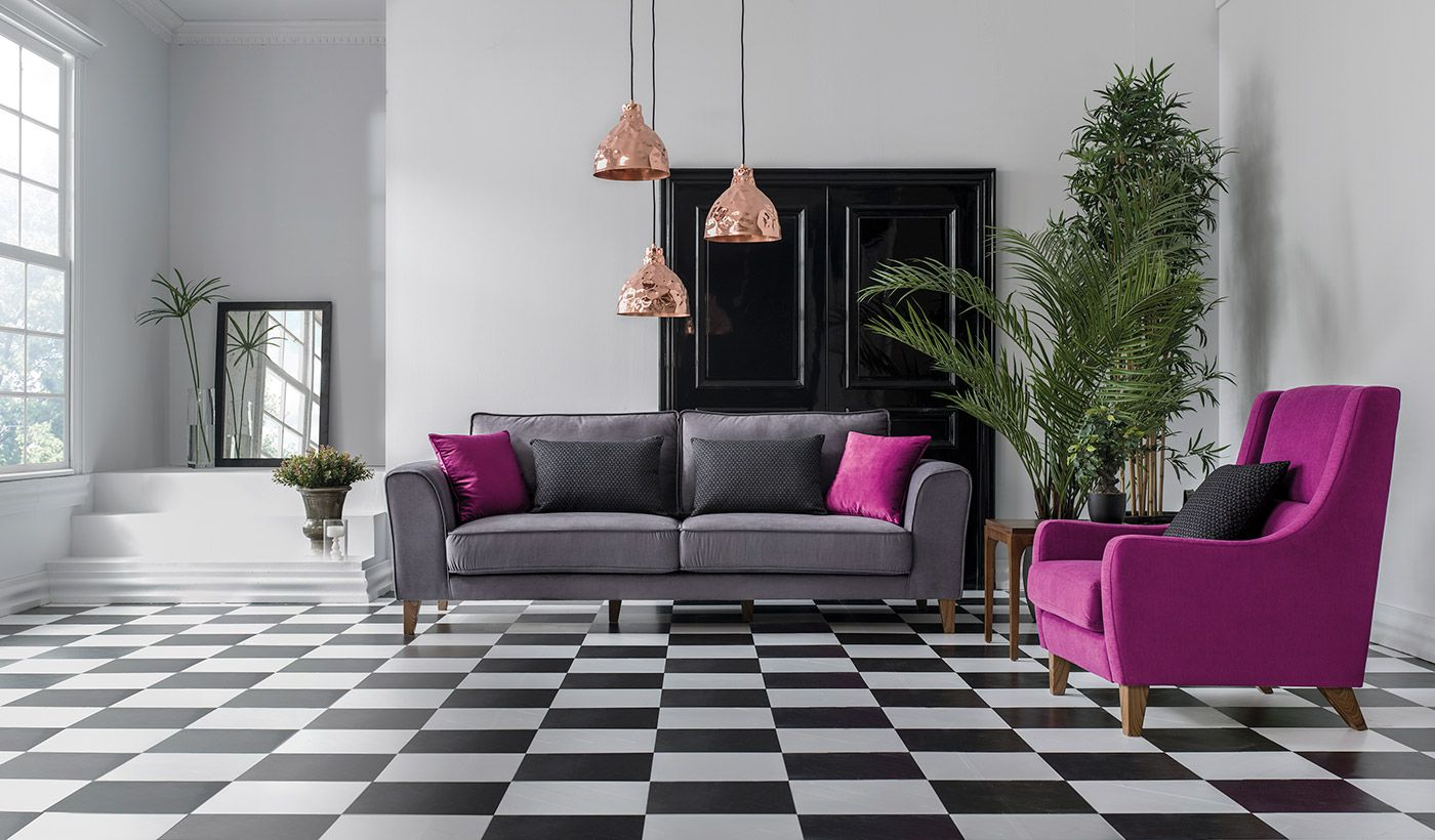 Antrasit Pembe Uyumu 2020 Mobilya Fikirleri Furniture Koltuklar