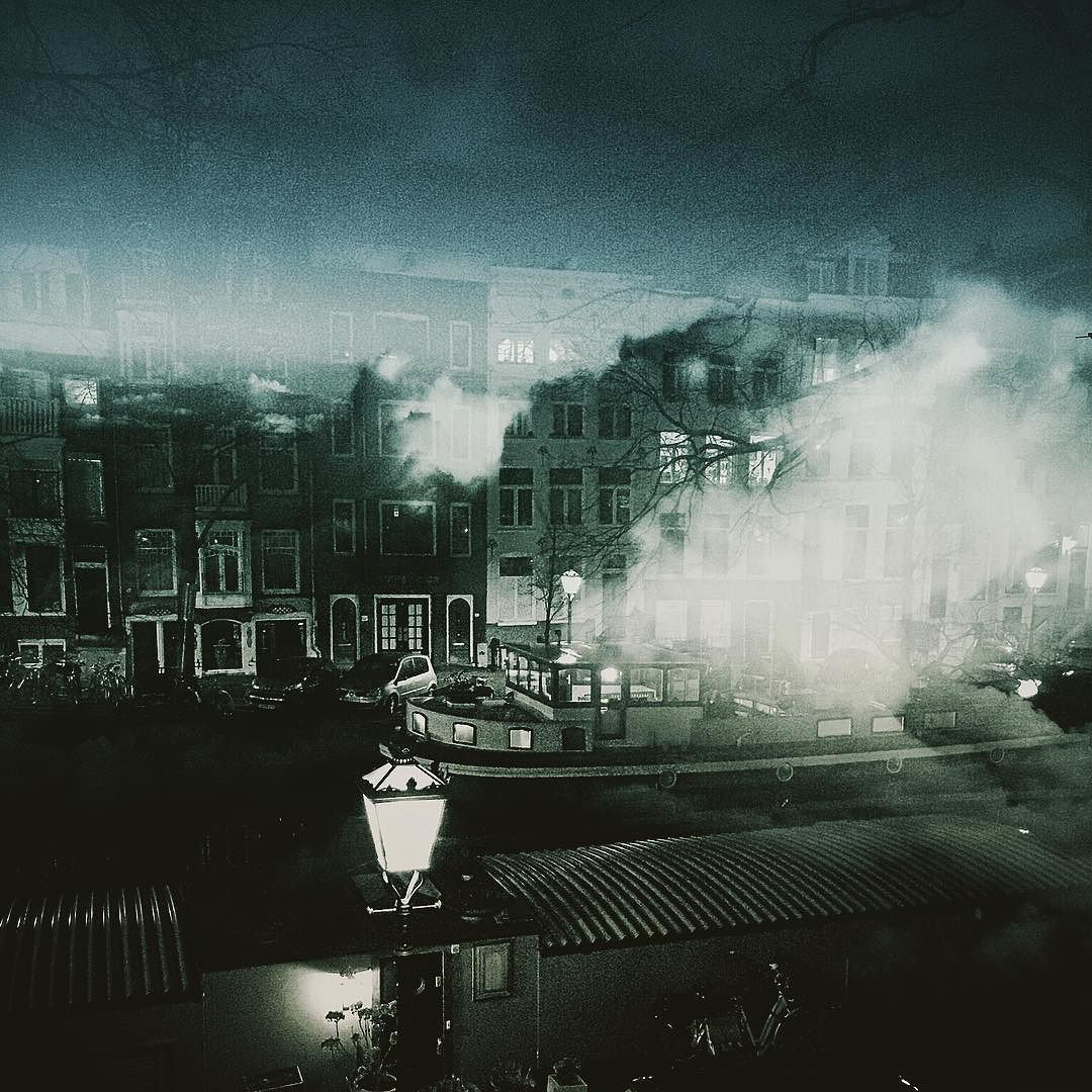 Grachten area ... combination of beautyful Amsterdam and some clouds #doubleexposure #dianaphotoapp #amsterdam #doubletrouble #nightlife #grachten by tom_krieger