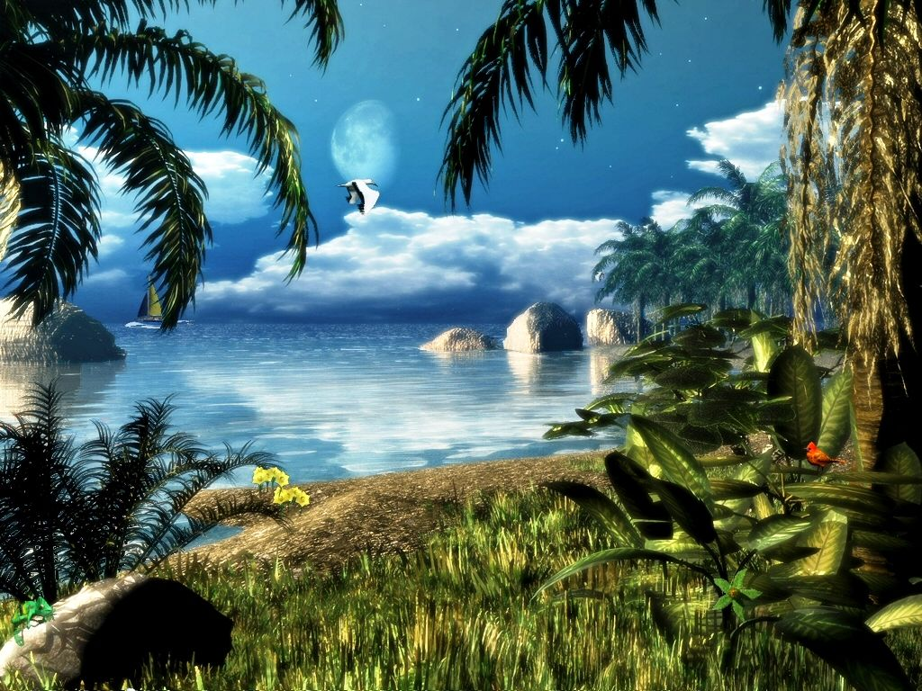 Animated Nature Background Wallpaper