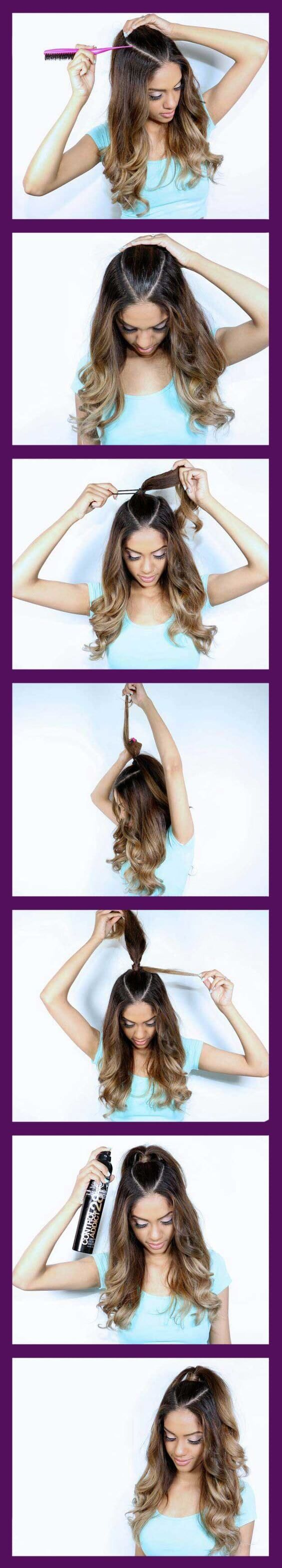 Peinados faciles pasos maquillaje pinterest hair style fall