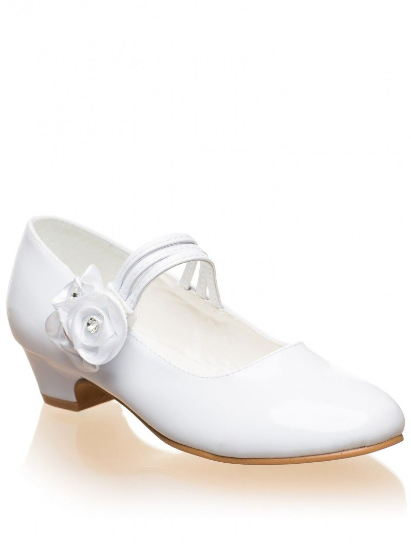 Girls White Shoe Lourdes Girls White Shoes Flower Girl Shoes