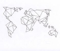 Origami world map tattoo wrist google search tattoo ideas origami world map tattoo wrist google search gumiabroncs Image collections