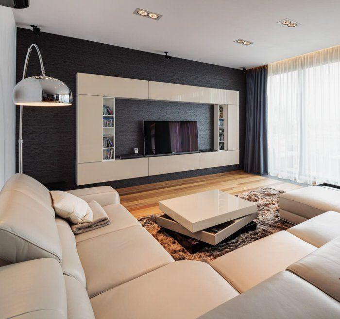 wohnidee tv wände tv wohnwand | Möbel ideen | Pinterest | TVs, Wand ...
