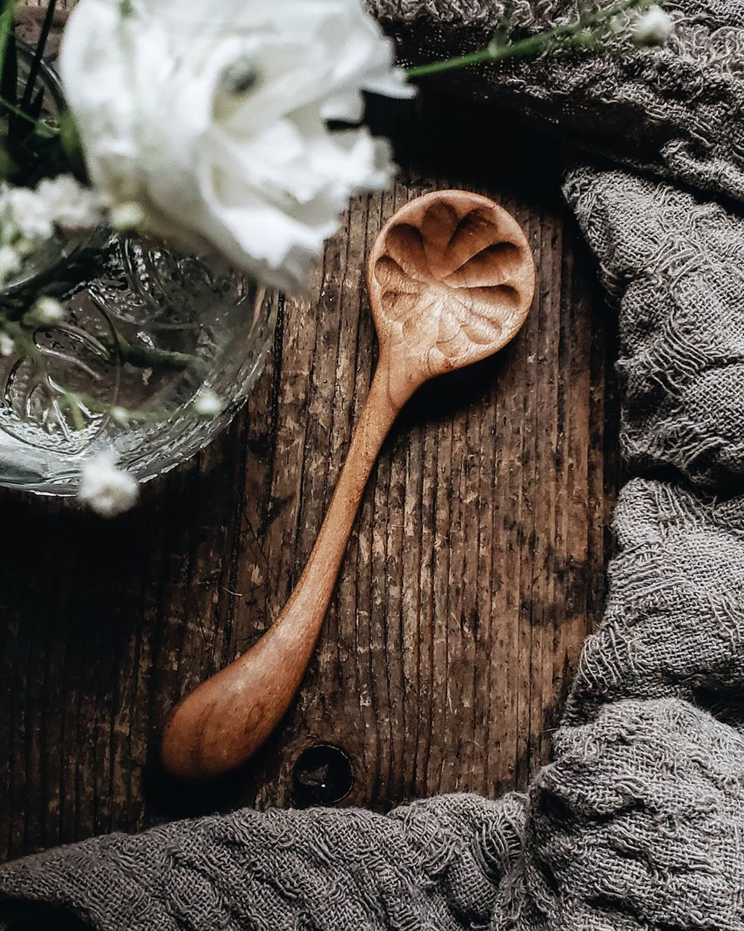Hand Carved Wooden Dreamware Mini Serving Spoon Made From Cherry Wood By The Polder Family Of Old World Kitchen In 2020 Old World Market Cherry Wood Old World Kitchens