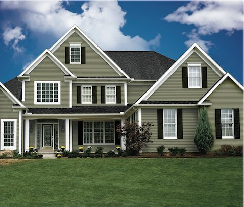 Kaykan siding timberlake willow green house colors - Chestnut brown exterior gloss paint ...