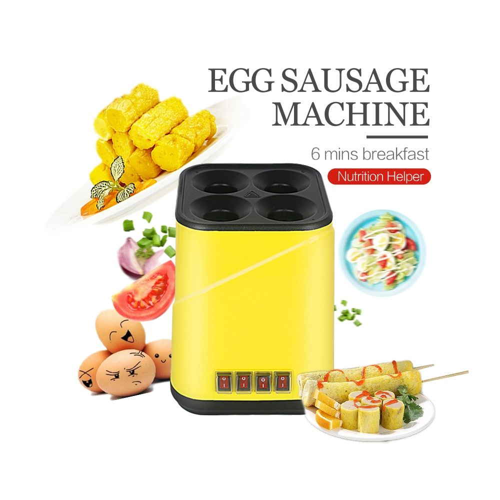 Automatic Egg Sausage Cooker Roll Maker Multifunction Rapid Breakfast